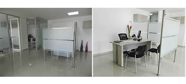 Muebles para oficina en vidrio bogota 20170718143136 for Divisiones para oficina