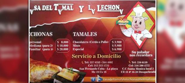 La Casa Del Tamal Y La Lechona - Imagen 1 - Visitanos!