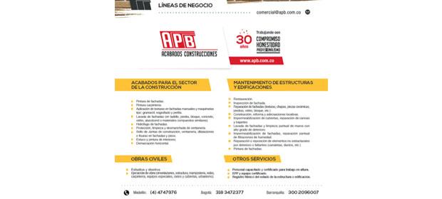 Apb Acabados Construcciones S.A.S.