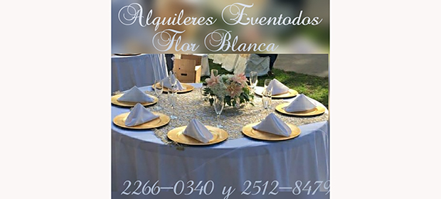 Alquileres Eventodos Flor Blanca