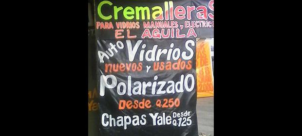Cremalleras Y Vidrios El Aguila