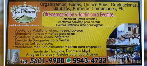 Eventos Los Olivares Jardín Y Salón - Imagen 1 - Visitanos!