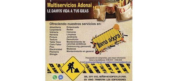 Multiservicios Adonai - Imagen 1 - Visitanos!